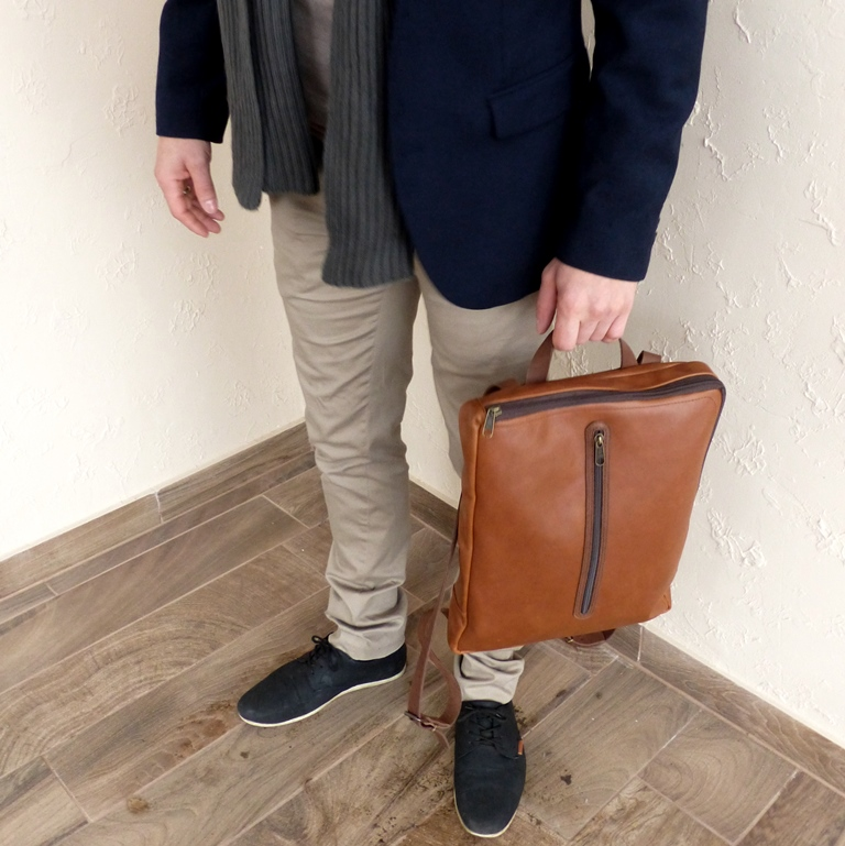 Nature bőr hátizsák, laptop táska